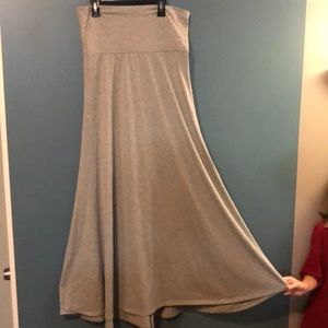 Lularoe grey maxi skirt**